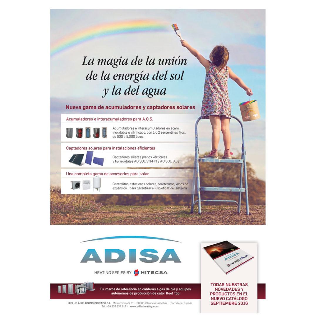 Un anuncio para Adisa Heating